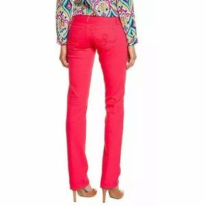 Lilly Pulitzer Pink Straight Leg Jeans Size 6